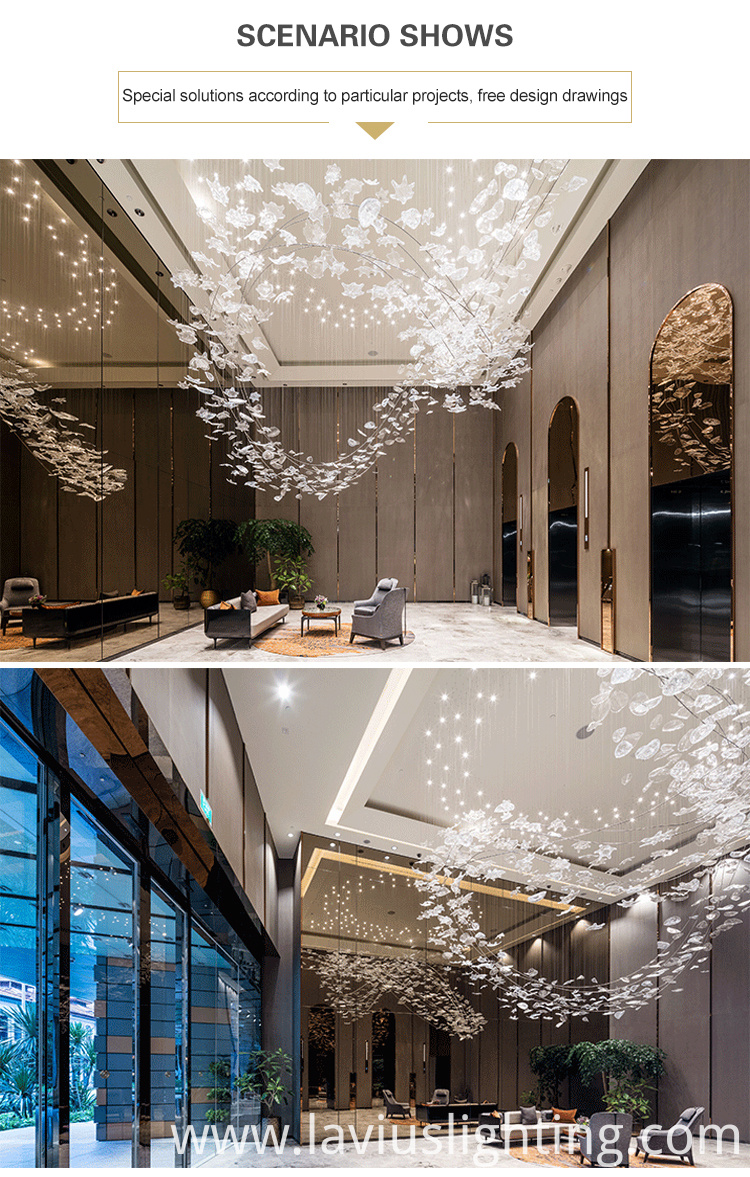 transparency glass ball chandelier light