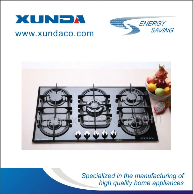 5 Burners Glass Gas Hob