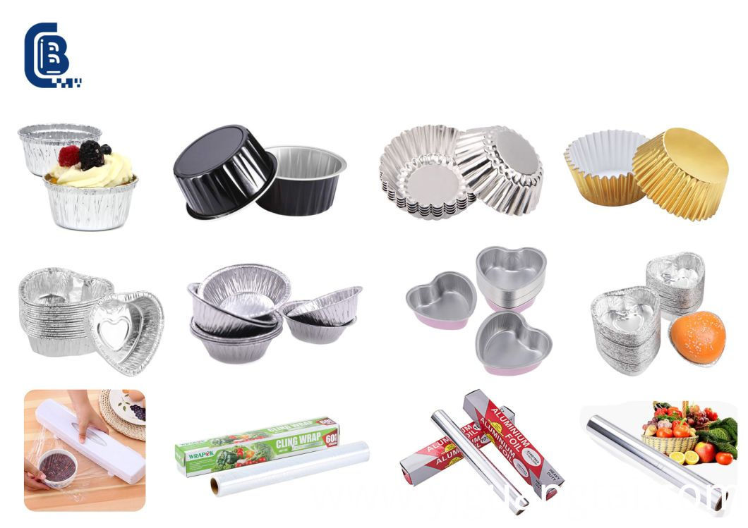 Disposable Heart Shaped Aluminum Foil Baking Cake, Cookie, Cupcake, Tart Ramekin