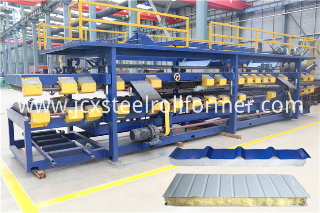 Rockwool Polyurethane EPS Sandwich Panel Production Machine Line
