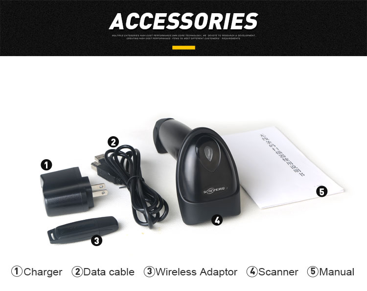 1D wireless barcode scanner