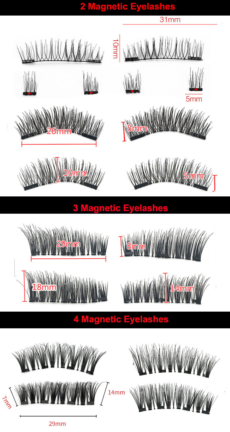 3D Faux Mink Private Label Magic Magnetic Eyelashes