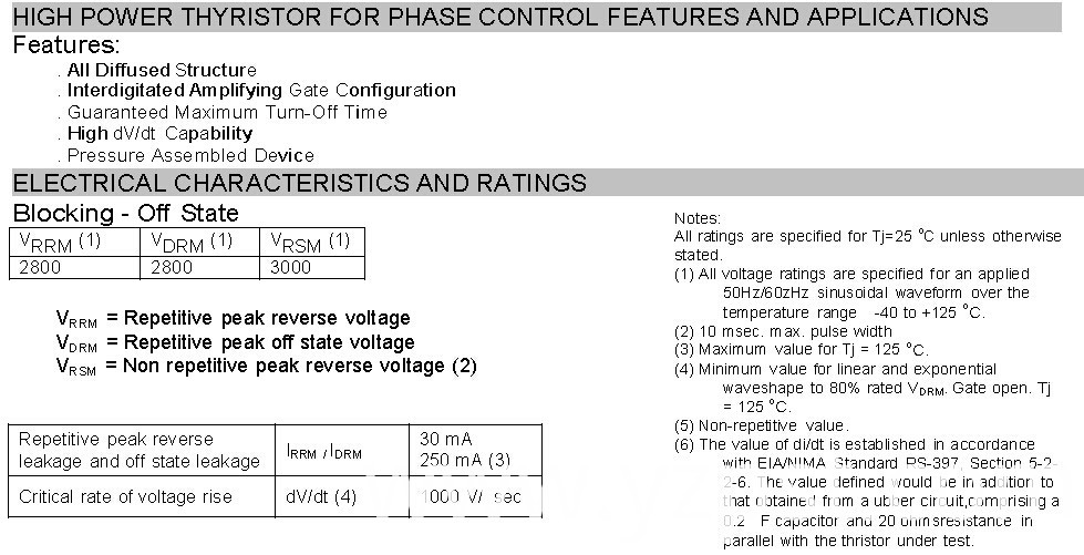 High Power Thyristor