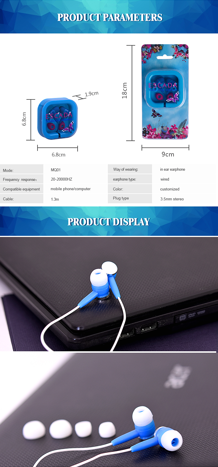 Most popular earphones with customized brand