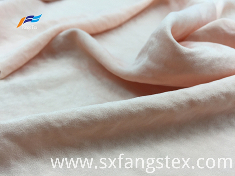 Soft Polyester Peach Skin Brushed LadiesTwill Fabric 1