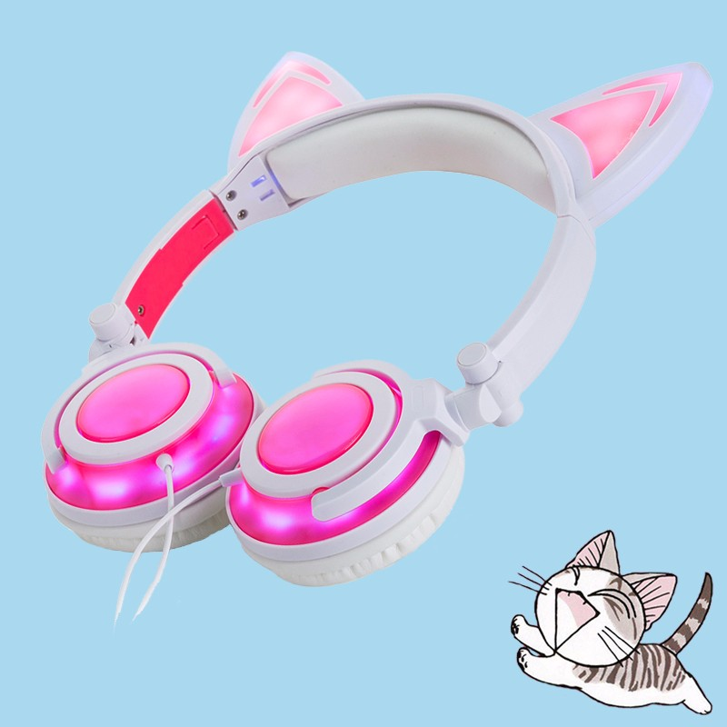 light up cute kids headphone