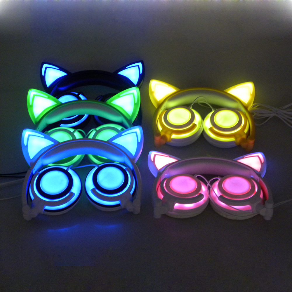 Colorful choose cat ear headphone