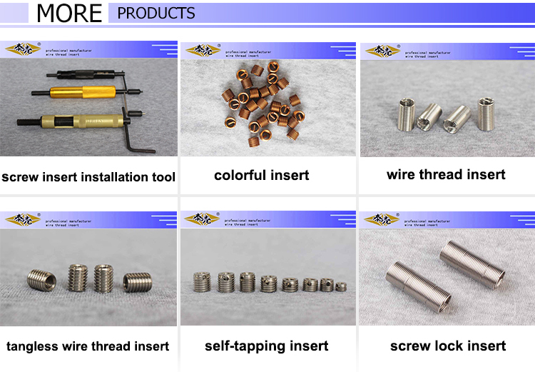 stainless steel screw thread insert
