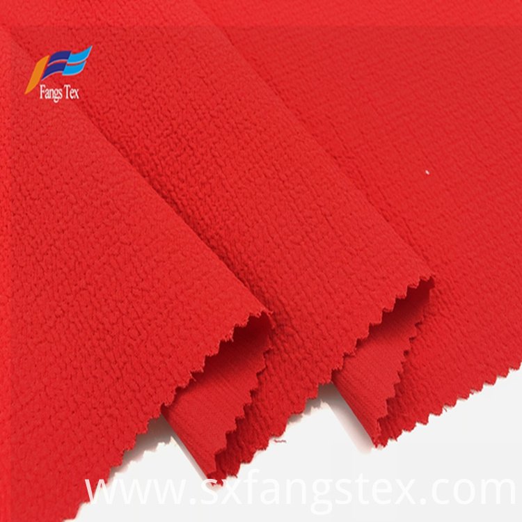 100% Polyester Dyed Bubble Crepe SSY Lady Fabric 1