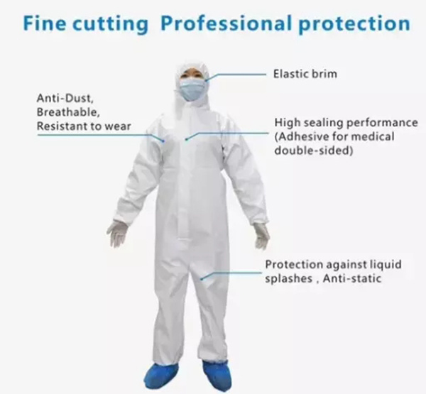 Ce Certified Disposable Work Clothes Isolation Protective Suit for Protective