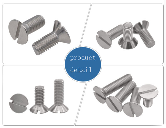 Steel slotted countersunk head screws