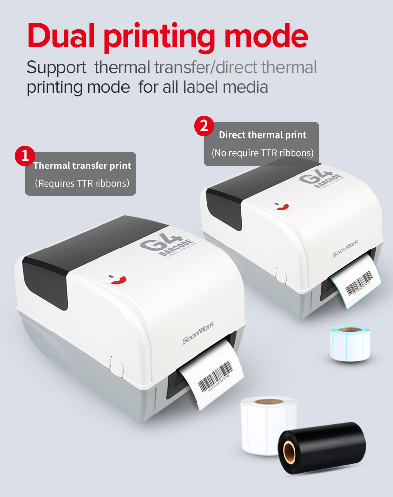 Bluetooth Thermal Transfer Label Printer