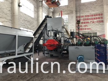 Y83W-500 Automatic Steel Metal Chips Block Briquette Making Machine (CE)