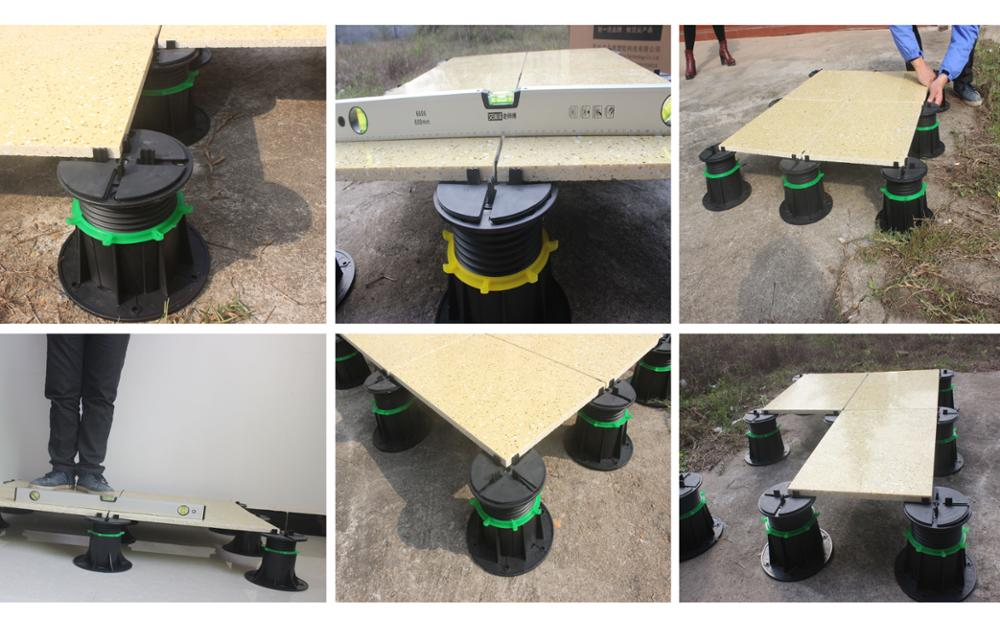 Adjustable decking plastic Pedestal
