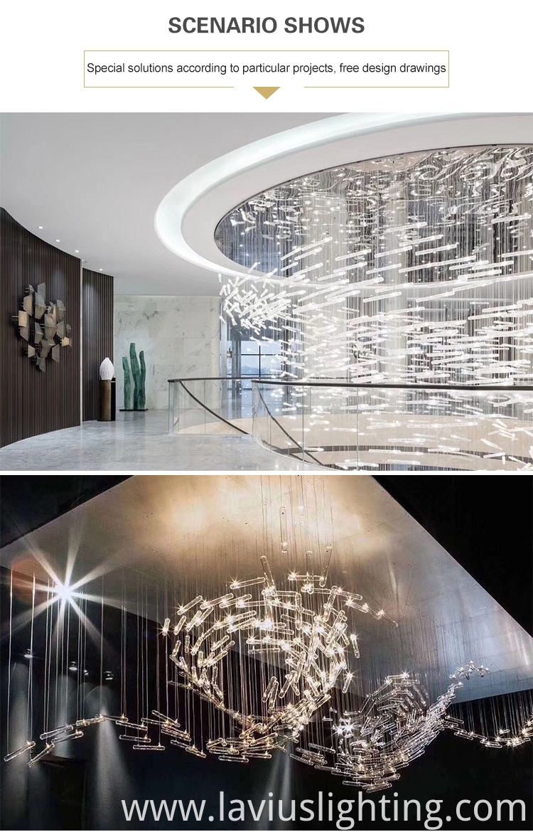 cylindrical crystal led chandelier lamp