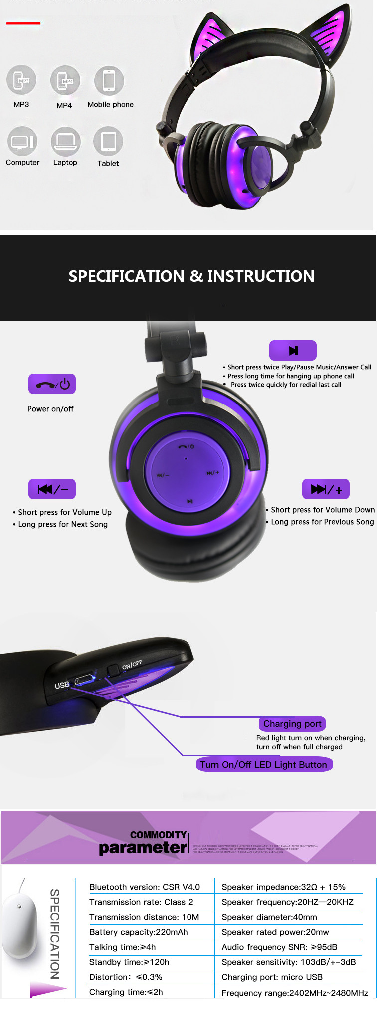 LED Headphones