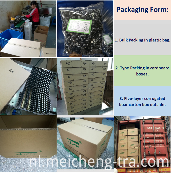 DIP Aluminum Electrolytic Capacitors Packing