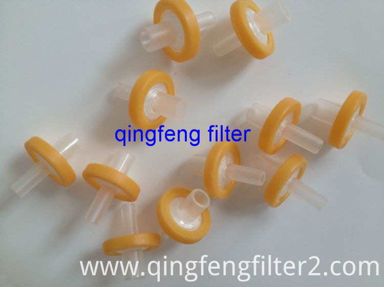 Disposable micron membrane syringe filter