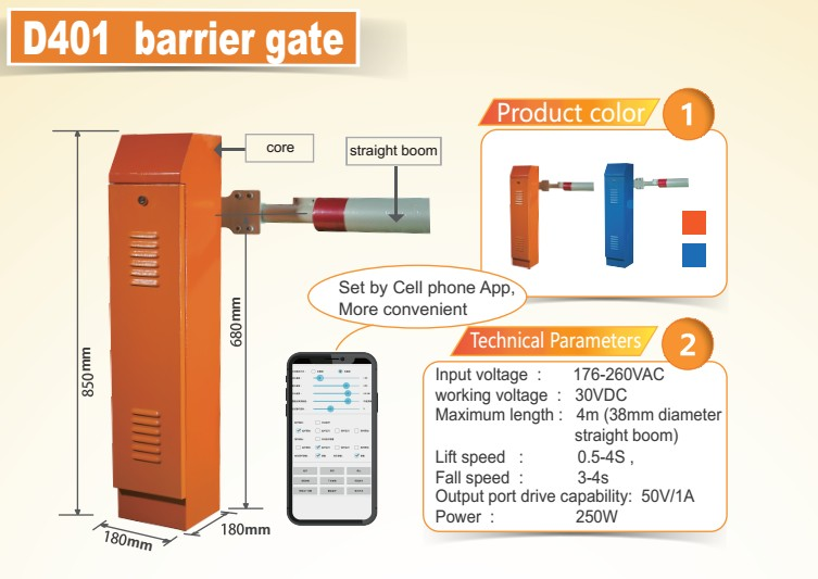 Parking boom barrier system/nice boom gate
