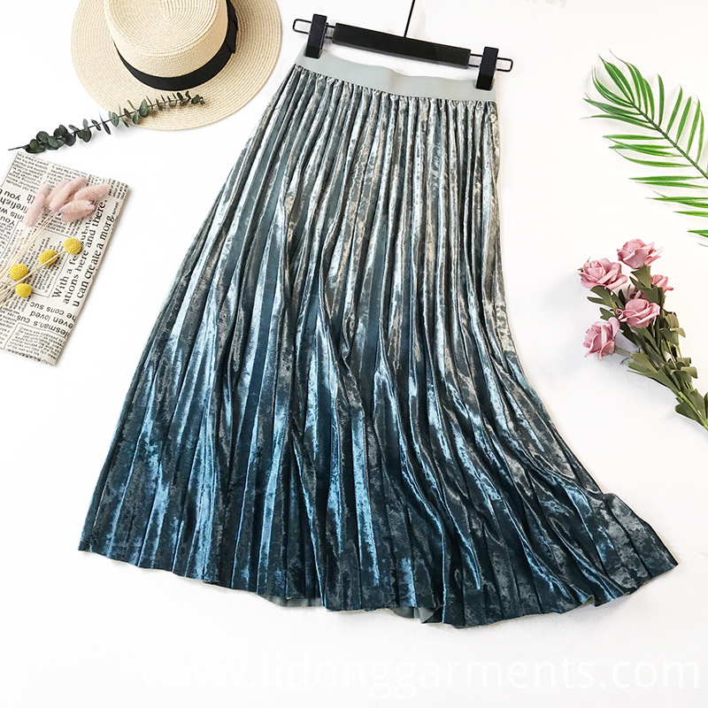 High Quality Velvet Skirt