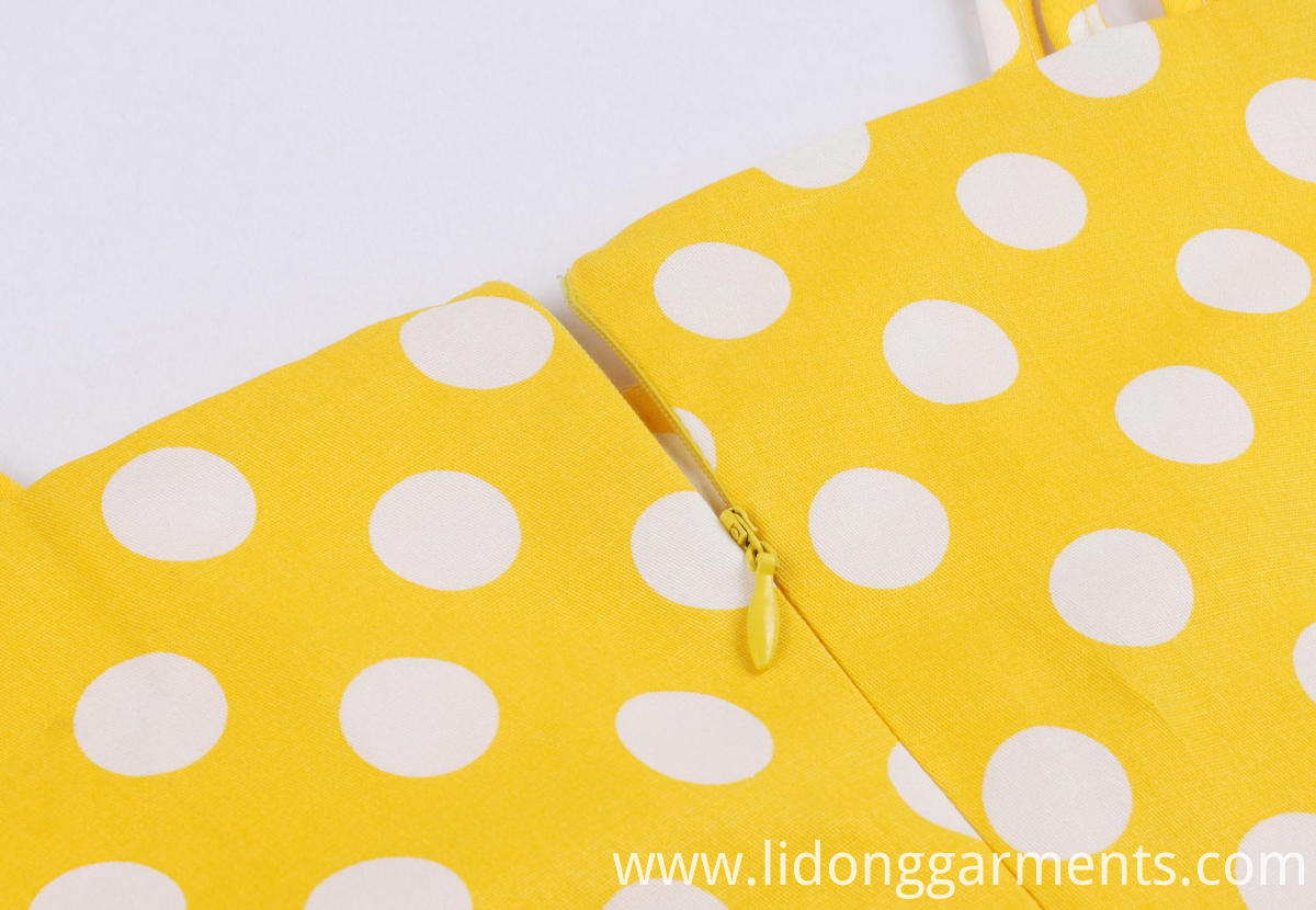 Polka Dot Printed Party Dress