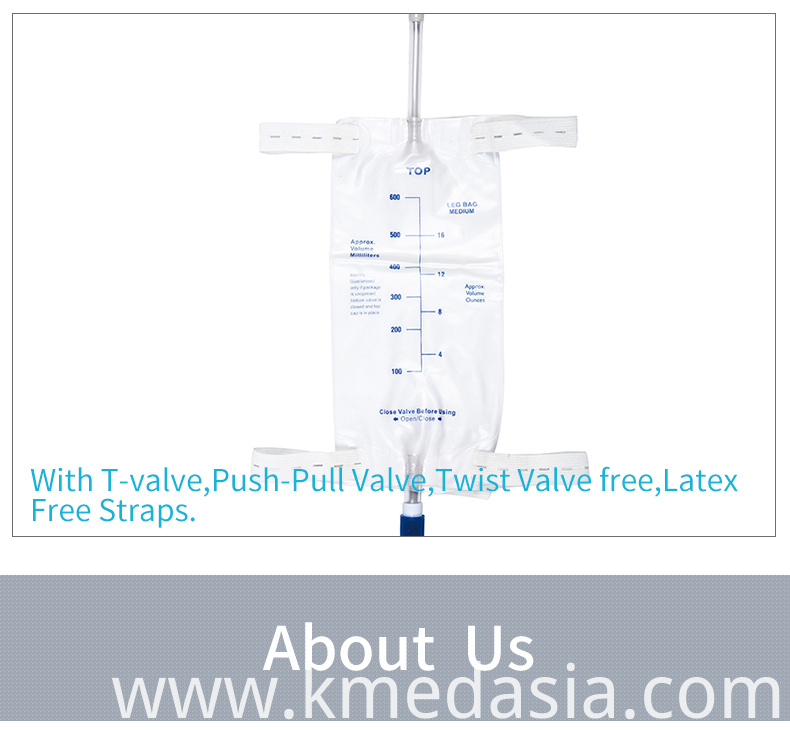 PVC urine drainage leg bag