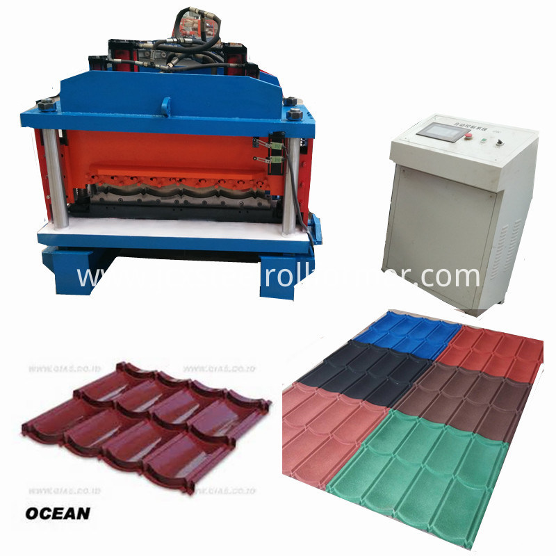 Color Coated Roof Tile Making Machine