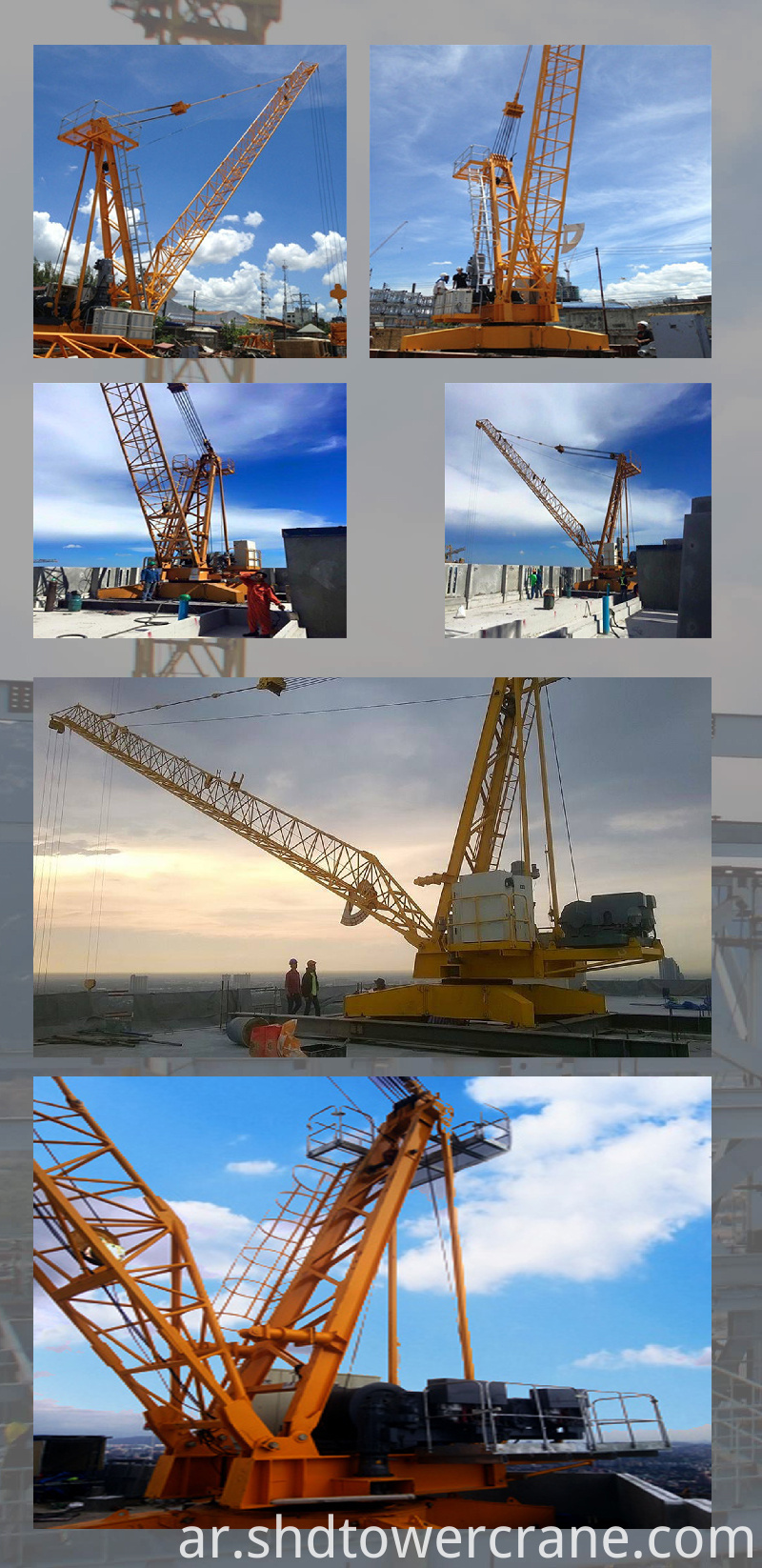 Demolition of Construction Crane