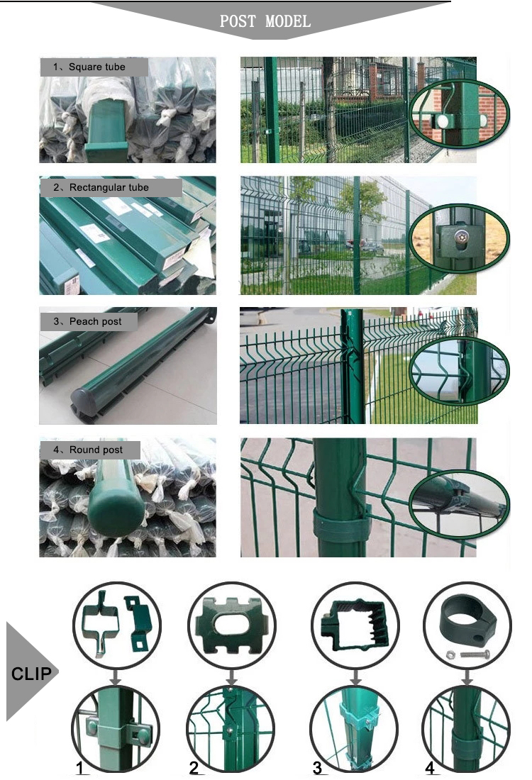 Factory direct 3d triangle curved fence bending fence