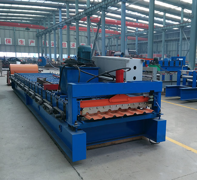 1050 Aluminium Steel Corrugated Sheet Forming Machine Roof Tile Making Machine
