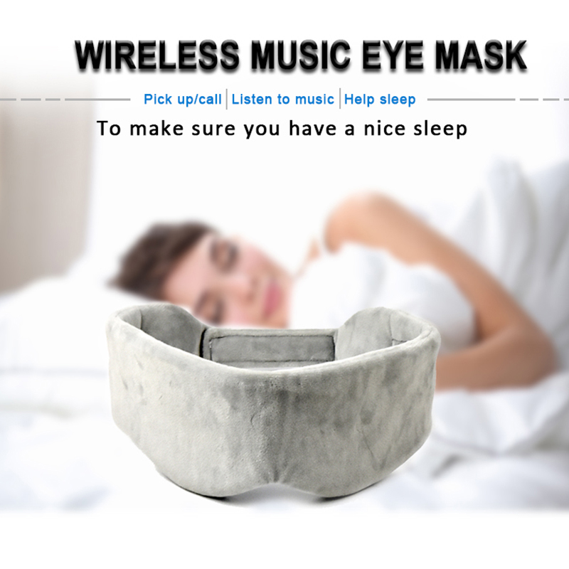 Thin Wireless Eye Mask Noise Cancelling Sleep Headphones