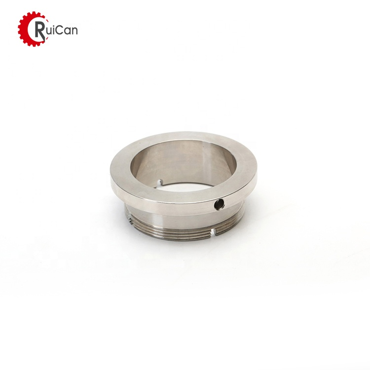 the precision machined stainless steel bearing housing