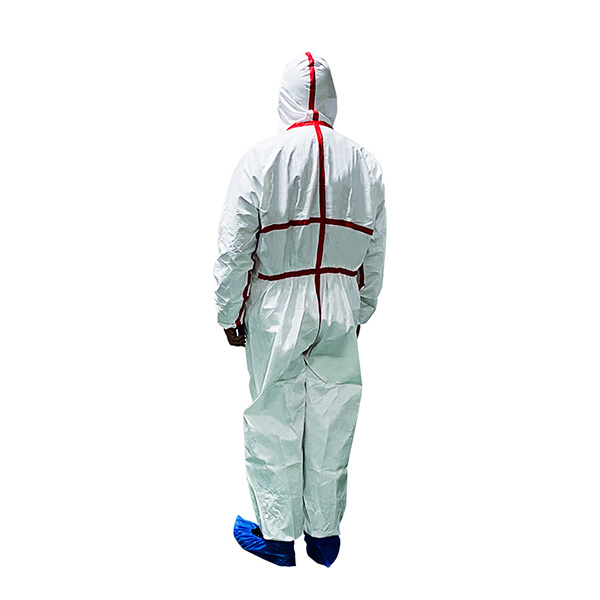 High Quality Coverall Non-Woven Biological Protection Full Body Safety Isolation Gown Suit