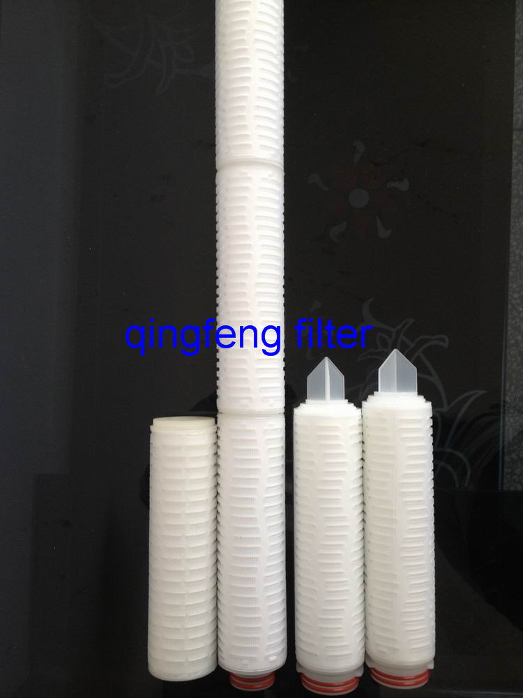 0.2 Micron PTFE 10'' Pleated Filte Cartridge for Pharmaceuticals and Chemicals