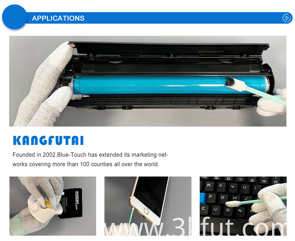 Open-Cell Printer Printer Cleaning Swab