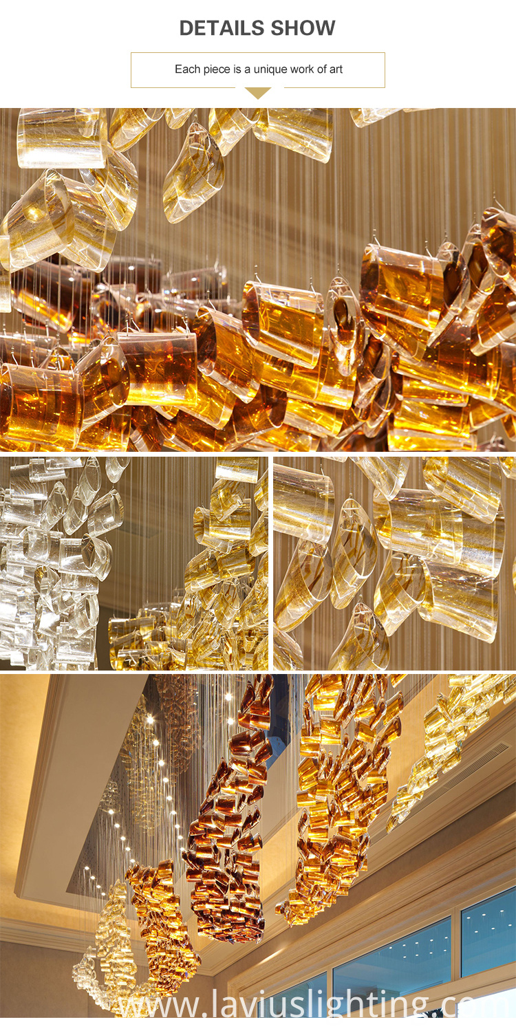 creative long crystal chandelier pendant lamp