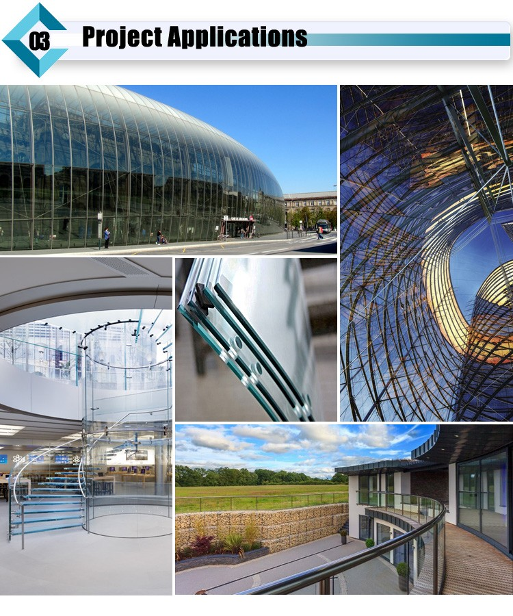 Curved Toughened Building Glass