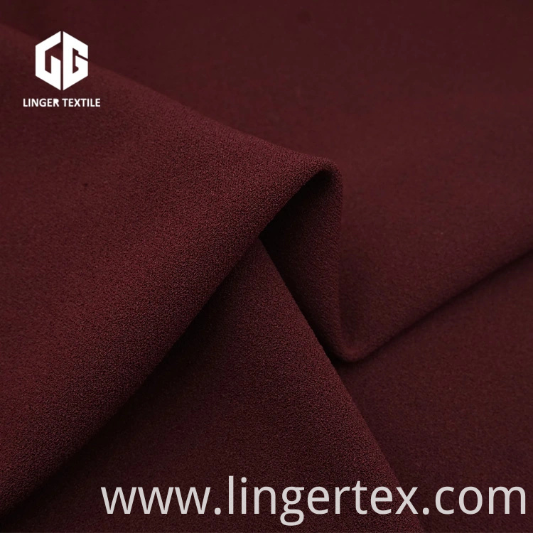 2019 New Polyester Spandex Knit Crepe Fabric for Dress Fabric