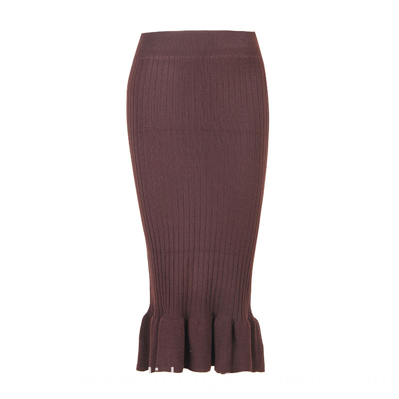 Women Solid Color Skirt