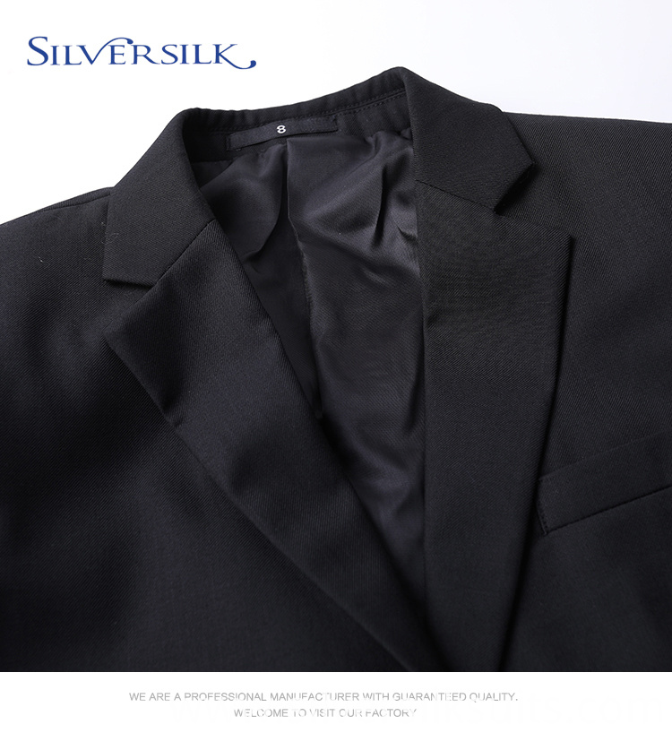 classic black formal suit